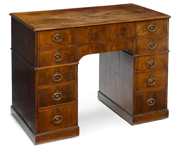 A good George III mahogany desk <BR />fourth quarter 18th century
