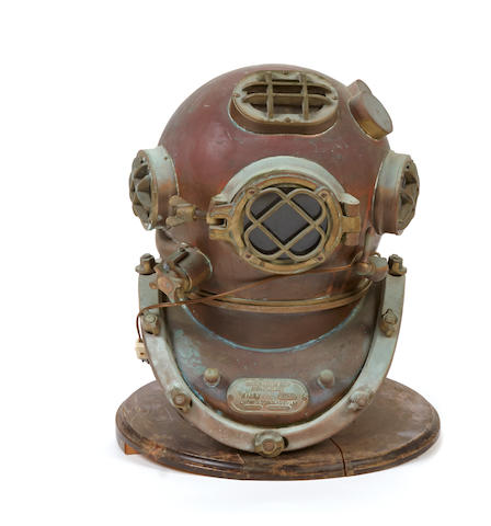 A diving helmet, now as lamp