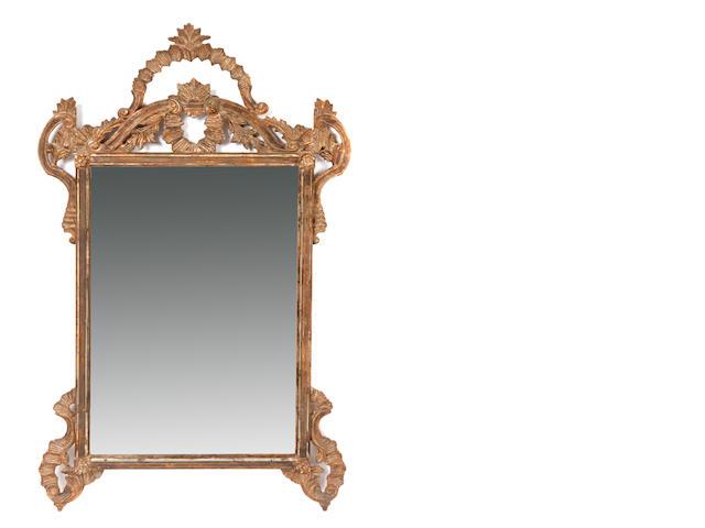 A Rococo style mirror