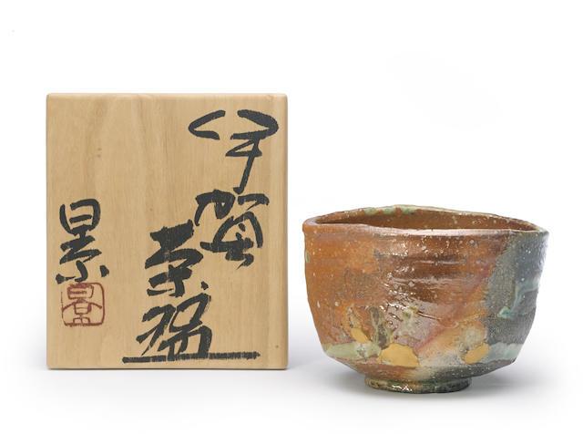 An Iga ware tea bowl (chawan) Tanimoto Kei (b. 1948)