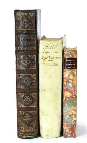 [SYRIAC.] 1. FERRARI, GIOVANNI BATTISTA. Nomenclator Syriacus. Rome: S. Paulinum, 1622.