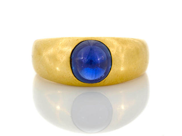 A sapphire ring