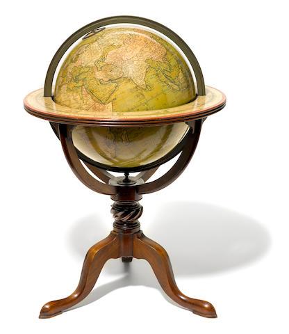 A George III twelve inch terrestrial W&S Jones globe <BR />circa 1800