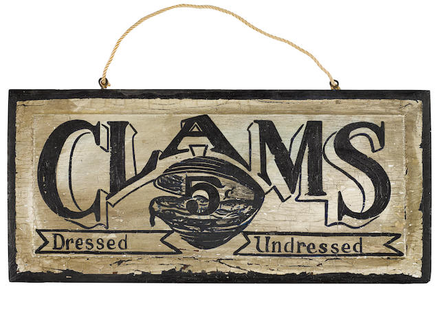Nantucket Hand painted wood sign and Clams painted wood sign
