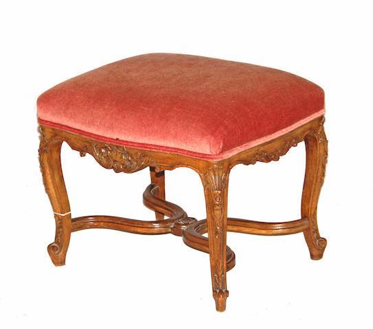 A Louis XV style walnut tabouret