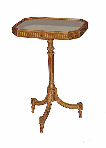 A Louis XVI style giltwood and mirrored side table late 19th century