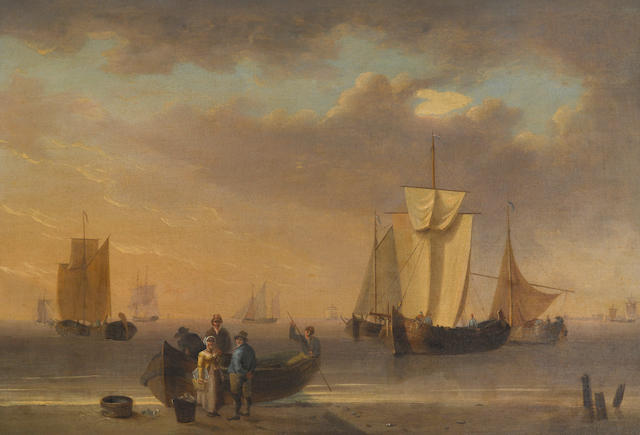 Attributed to William Anderson (British, 1757-1837) Bringing in the catch 13 x 19 in. (33 x 48.2 cm.)