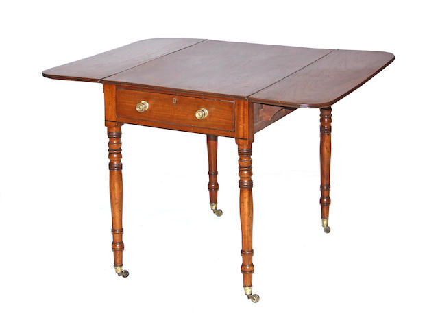 A late Regency mahogany pembroke table first quarter 19th century