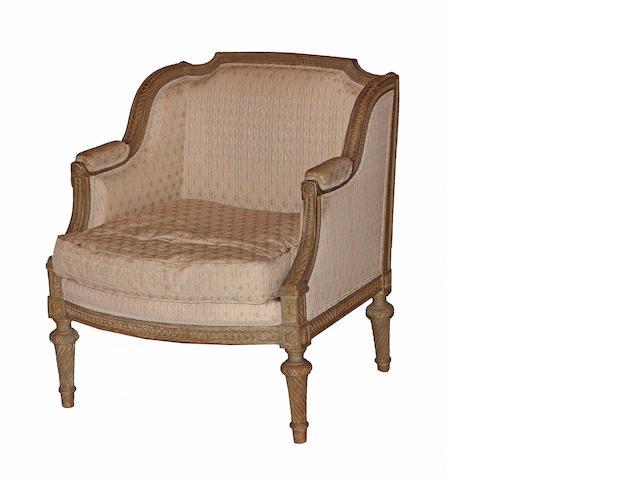 A Louis XVI style bergère