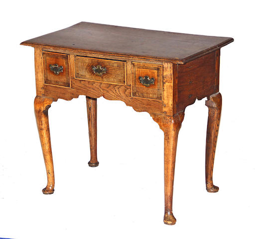 A late George I/early George II oak and  mahogany dressing table