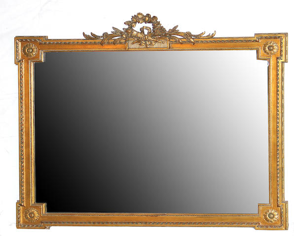A Neoclassical style gilt gesso mirror