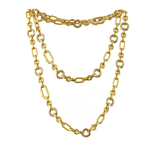 An eighteen karat bicolor gold necklace, Pomellato