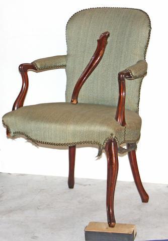 A George III mahogany armchair mid 18th century
