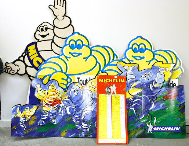 A lot of modern Michelin cardboard standup displays,
