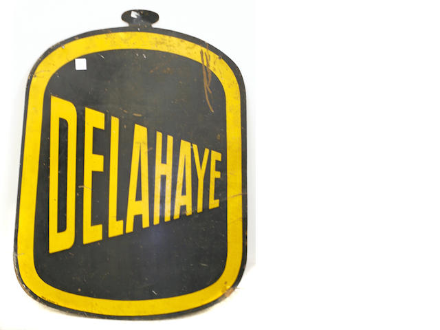 An early Delahaye sign,