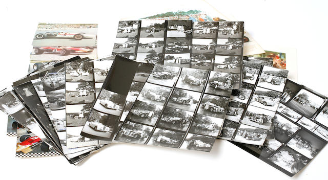 A collection of contact prints of photos taken in France, c.1945,