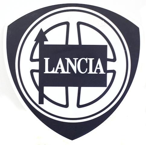 A Lancia sign,