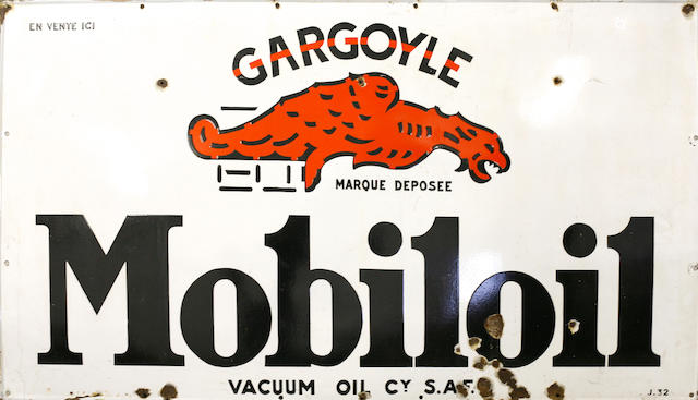 A large Mobileoil gargoyle sign, c. 1930s,