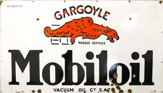 A large Mobileoil gargoyle sign, c. 1930s,