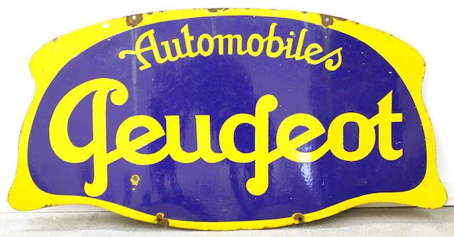 A Peugeot Automobile sign,
