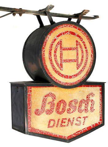 An early Bosch service sign, c.1920s,