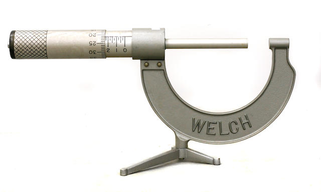 A Welch micrometer display,