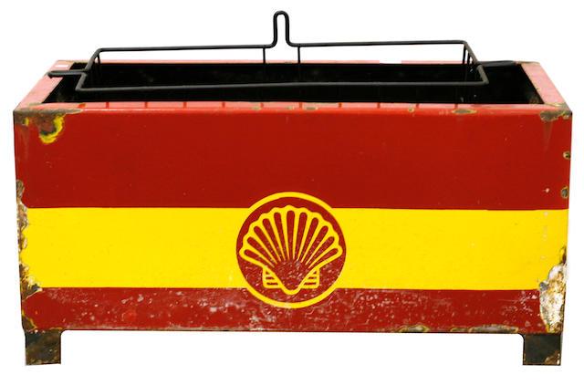 A Shell oil bottle station rack, c. 1920s,