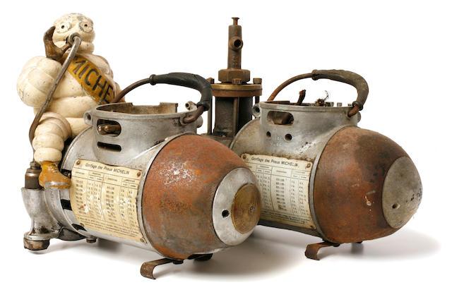 A partial Michelin air compressor,