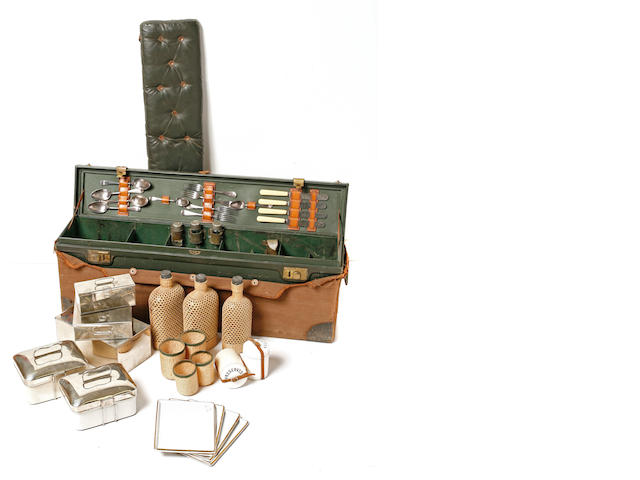 A four person motoring picnic kit by Kirby Beard and Co. Limited Paris, c.1920s,