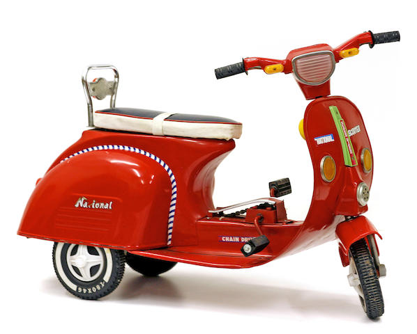 A child's pedal Vespa scooter, c.1970s,
