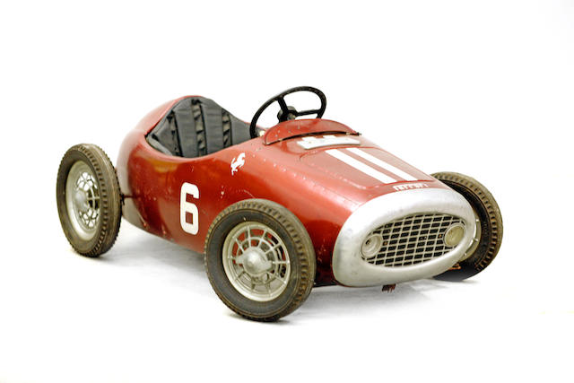 A child's Ferrari 375 F1 pedal car, c.1960s,