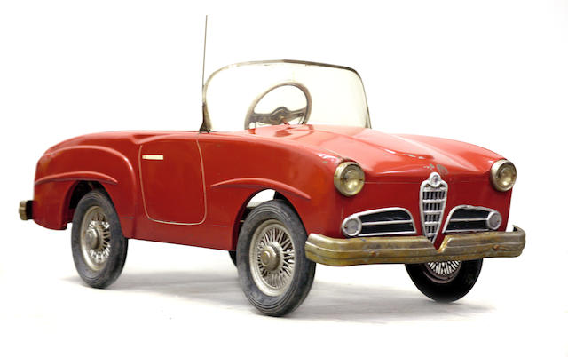 A good Alfa Romeo pedal car, c.1959,