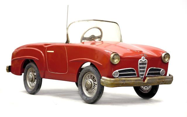 A good Alpha Romeo pedal car, c.1959,