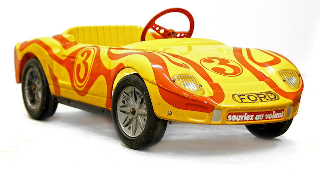A child's Ford GT 40 pedal car