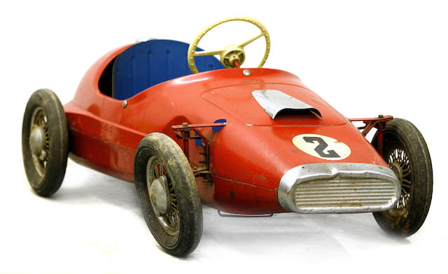 A Triang child's racing pedal car, c.1960s,