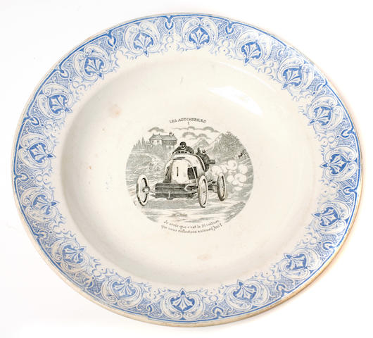 A Moore's racing car commemorative China bowl,