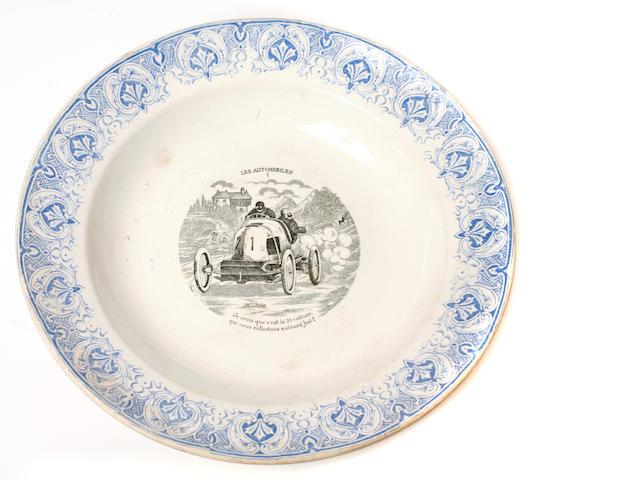 A Moore's racing car commemorative China bowl,