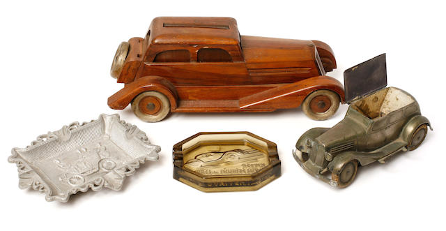 A lot of motoring desk accessories for smokers,