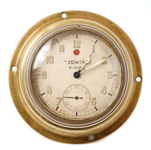 A Zenith eight-day clock,