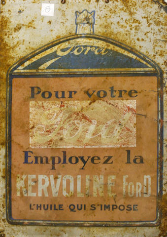 An early French Ford tin painted sign, c. 1915,
