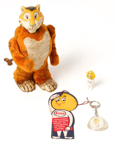 A Marx walking Esso Tiger toy,