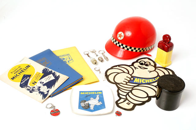 A mixed grouping of Michelin advertising collectibles,