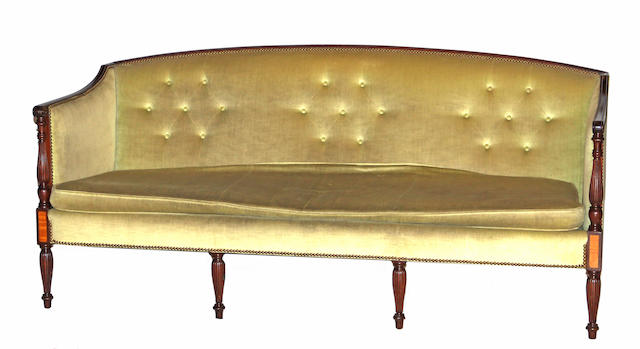 A Federal style mahogany sofa