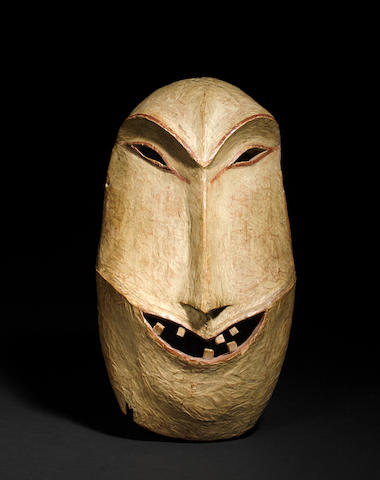 An Eskimo mask, Yupik or Athabaskan