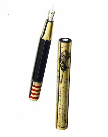 MONTBLANC: Pablo Picasso Artisan Edition 18K Solid Yellow Gold Limited Edition 91 Fountain Pen *SEALED*