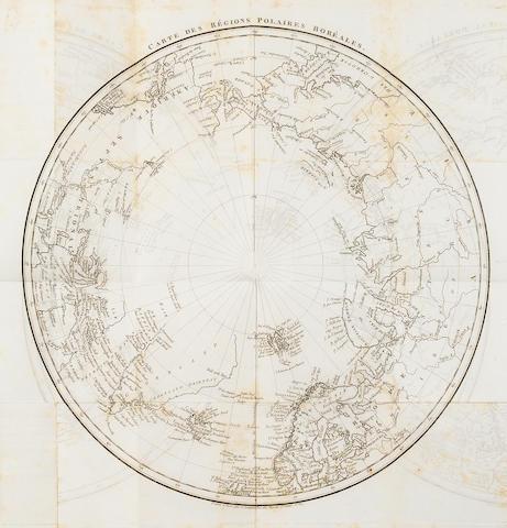 BARROW, JOHN. 1764-1848. Histoire chronologique des voyages vers le pole Arctique. Paris: Gide Fils, 1819.