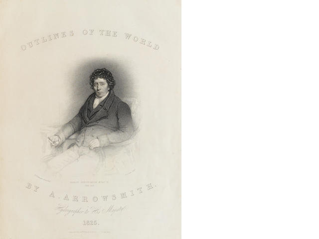 ARROWSMITH, AARON. 1750-1823.   Outlines of the World. London: A. & S. Arrowsmith, 1825.