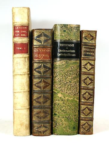 [LATIN.] A group of Latin folio dictionaries, including: