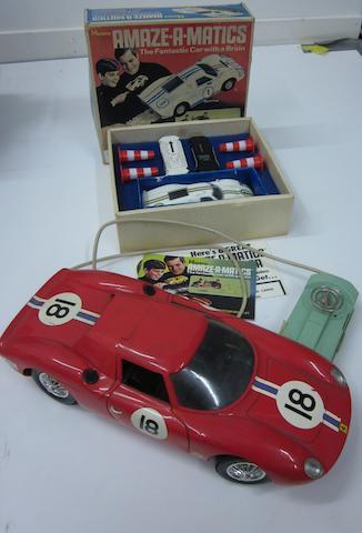 A vintage LeMan Ferrari 250 remote control car, c.1960,