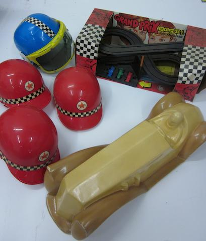 A Grande Prix toy grouping,